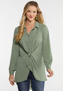 Dressy Tie Front Tunic