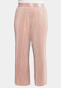 Plus Size Pleated Wide Leg Pants