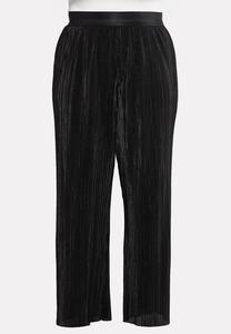 Plus Petite Pleated Wide Leg Pants