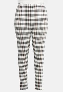 Plus Size Pretty Plaid Leggings