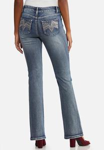 Chevron Bling Bootcut Jeans