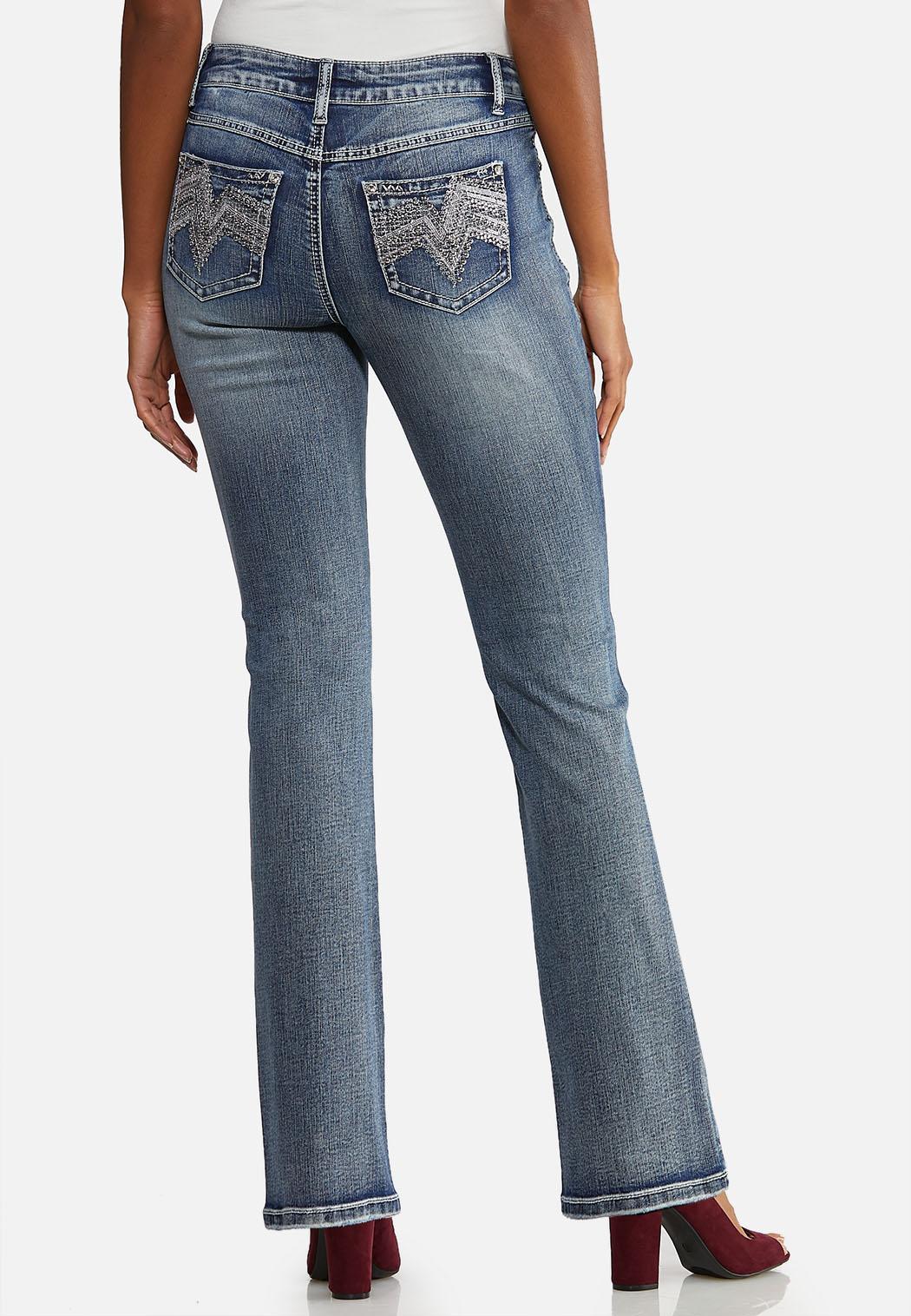 Petite Chevron Bling Bootcut Jeans