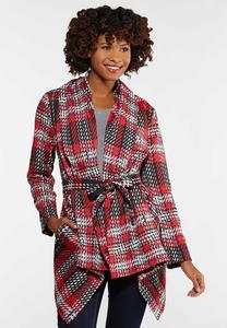Plaid Belted Jacket