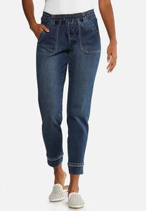 Dark Wash Jogger Jeans