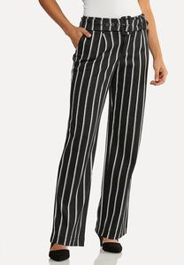 Stripe Belted Pants