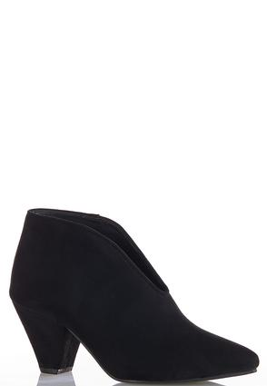 Faux Suede V- Vamp Booties