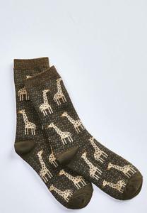 Giraffe Dotted Socks