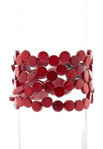 Red Disc Stretch Bracelet