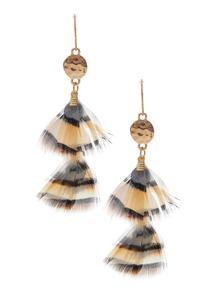 Wispy Feather Earrings