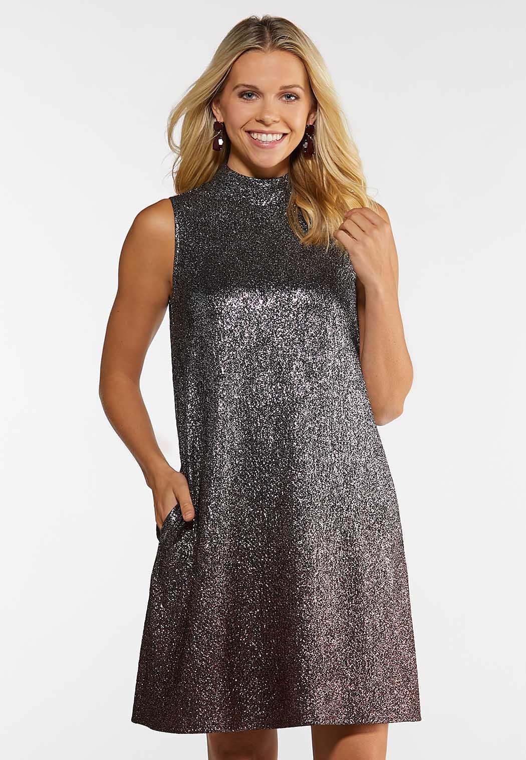 Ombre Shimmer Swing Dress