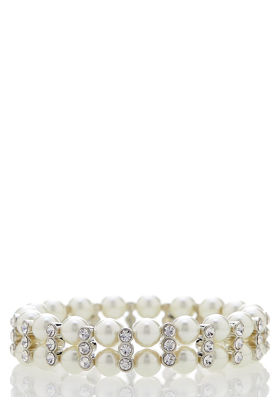 Dazzling Pearl Stretch Bracelet