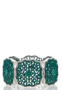 Square Filigree Stretch Bracelet