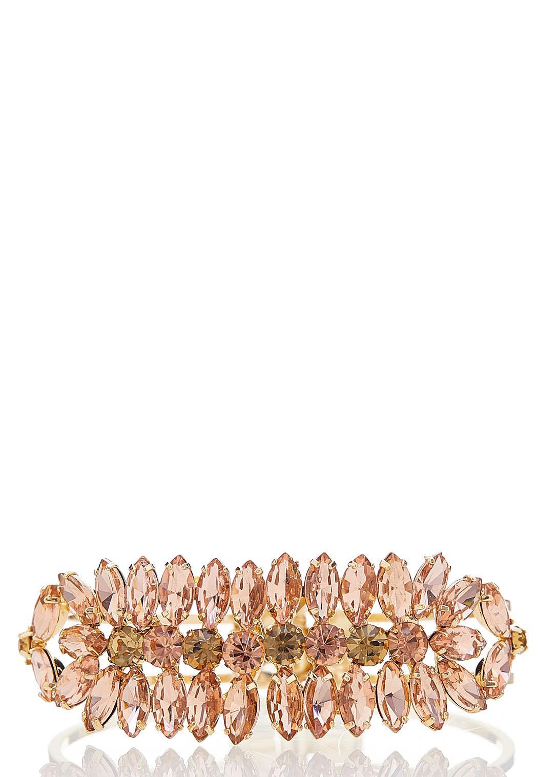 Floral Hinge Cuff Bracelet