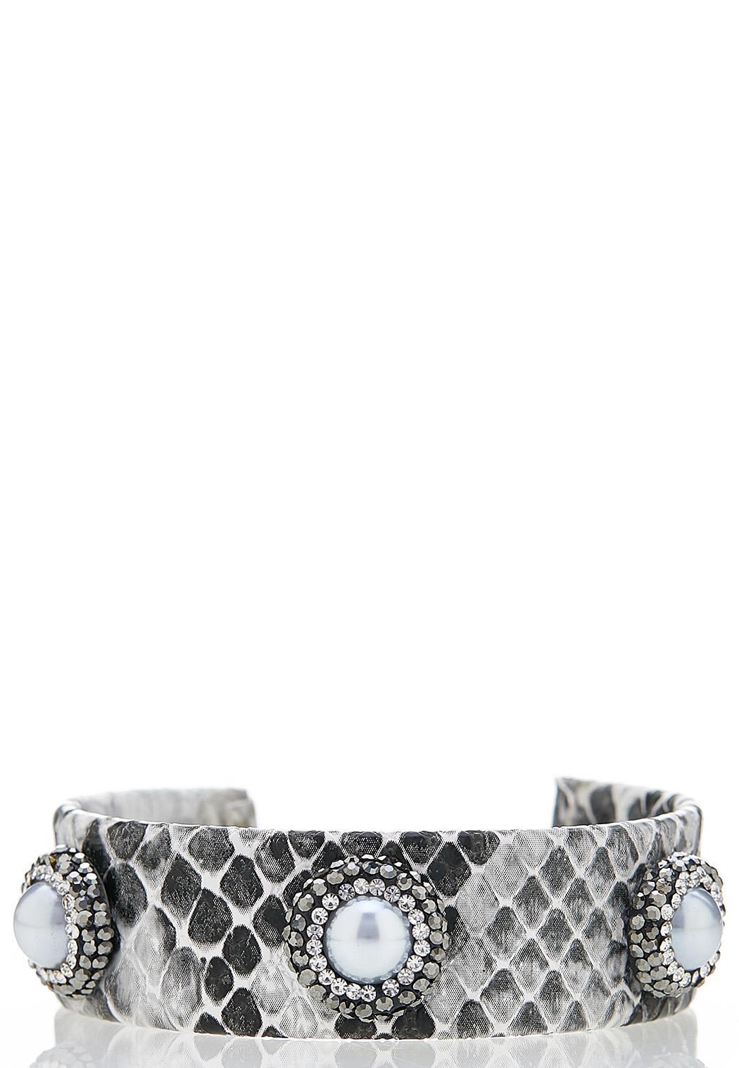 Pave Snakeskin Cuff Bracelet