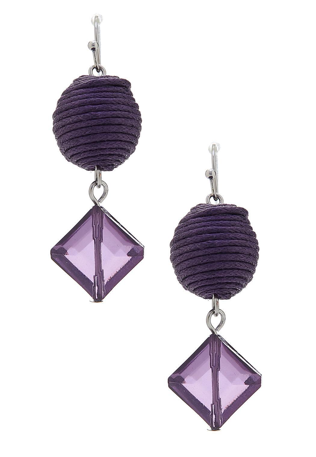 Purple Geo Earrings