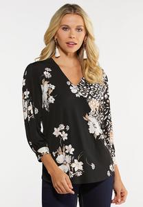 Plus Size Blush Floral Top