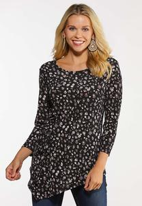 Cinched Pointed Hem Top