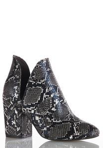 Wide Width Snakeskin Dipside Boots