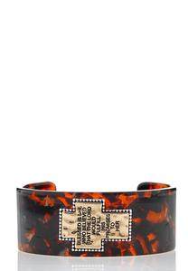 Inspirational Two-Toned Cuff Bracelet