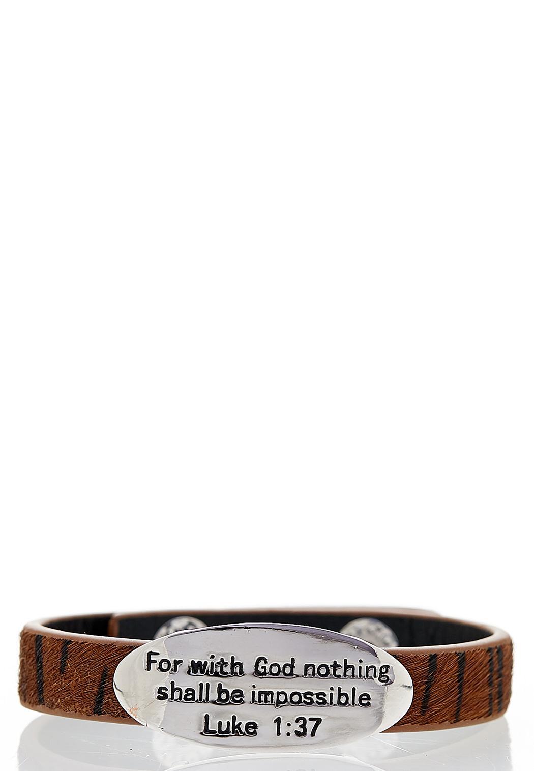 Inspirational Engraved Snap Bracelet