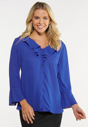 Plus Size Royal Ruffled Top