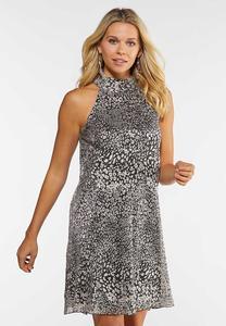 Shimmery Leopard Dress