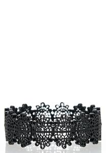 Black Filigree Stretch Bracelet