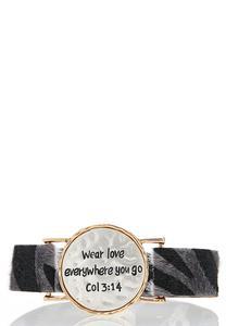 Inspirational Faux Fur Band Bracelet