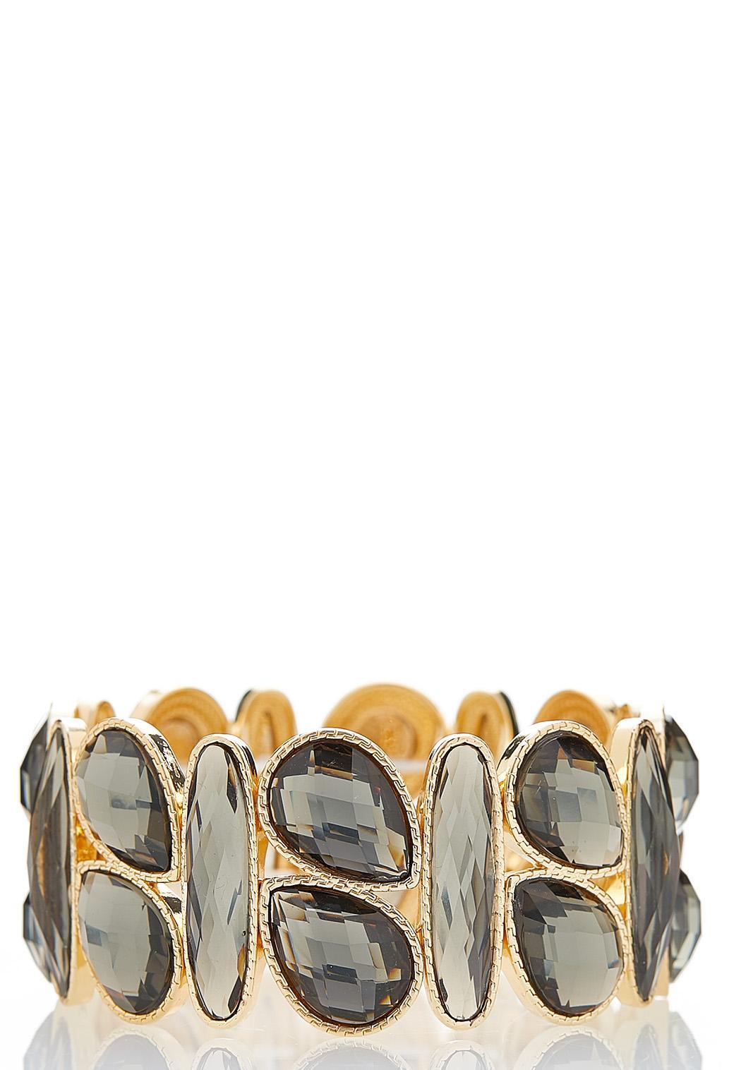 Faceted Acrylic Stretch Bracelet