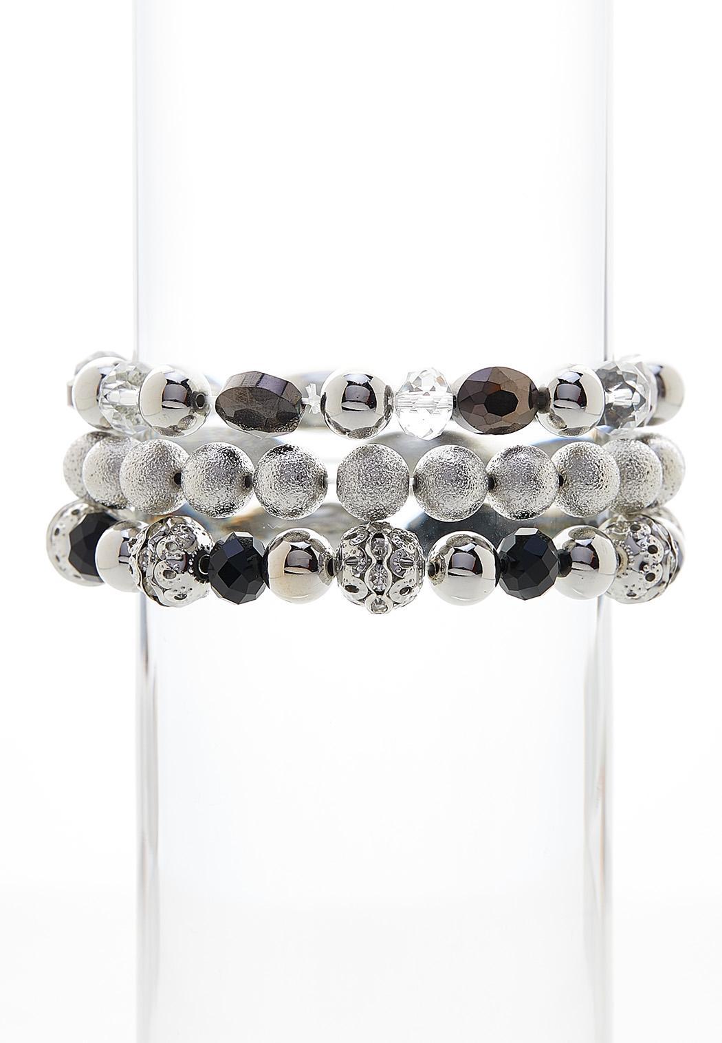Contrast Beaded Bracelet Set