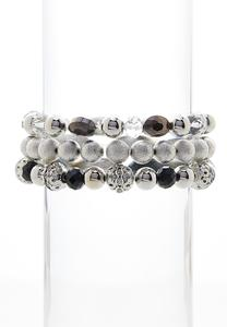 Contrast Beaded Bracelet Set