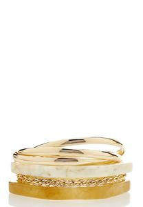 Mixed Bangle Bracelet Set