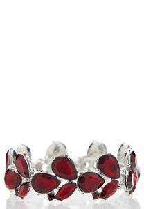 Red Marquise Stretch Bracelet