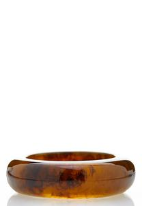 Tortoise Resin Bangle Bracelet