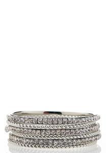 Rhinestone Bangle Bracelet Set