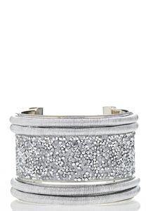 Rock Glitter Cuff Bracelet