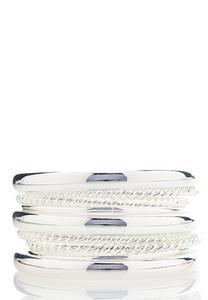 XL Textured Bangle Bracelet Set
