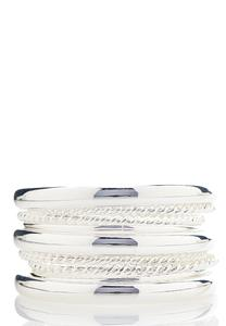 XL Textured Bangle Bracelet Set