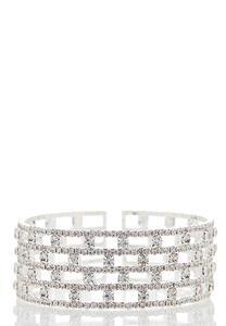 Sparkling Stone Cuff Bracelet