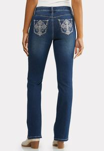 Petite Bling Cross Pocket Jeans