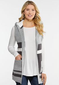 Colorblock Hooded Vest