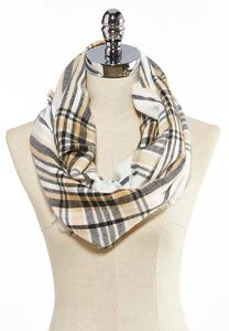 Multi Plaid Oversized Infinity Scarf