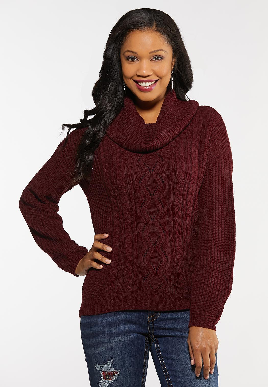 Cowl Cable Sweater