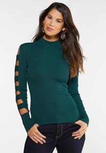 Ladder Sleeve Pullover Sweater