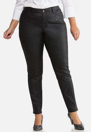 Plus Size Coated Skinny Jeans