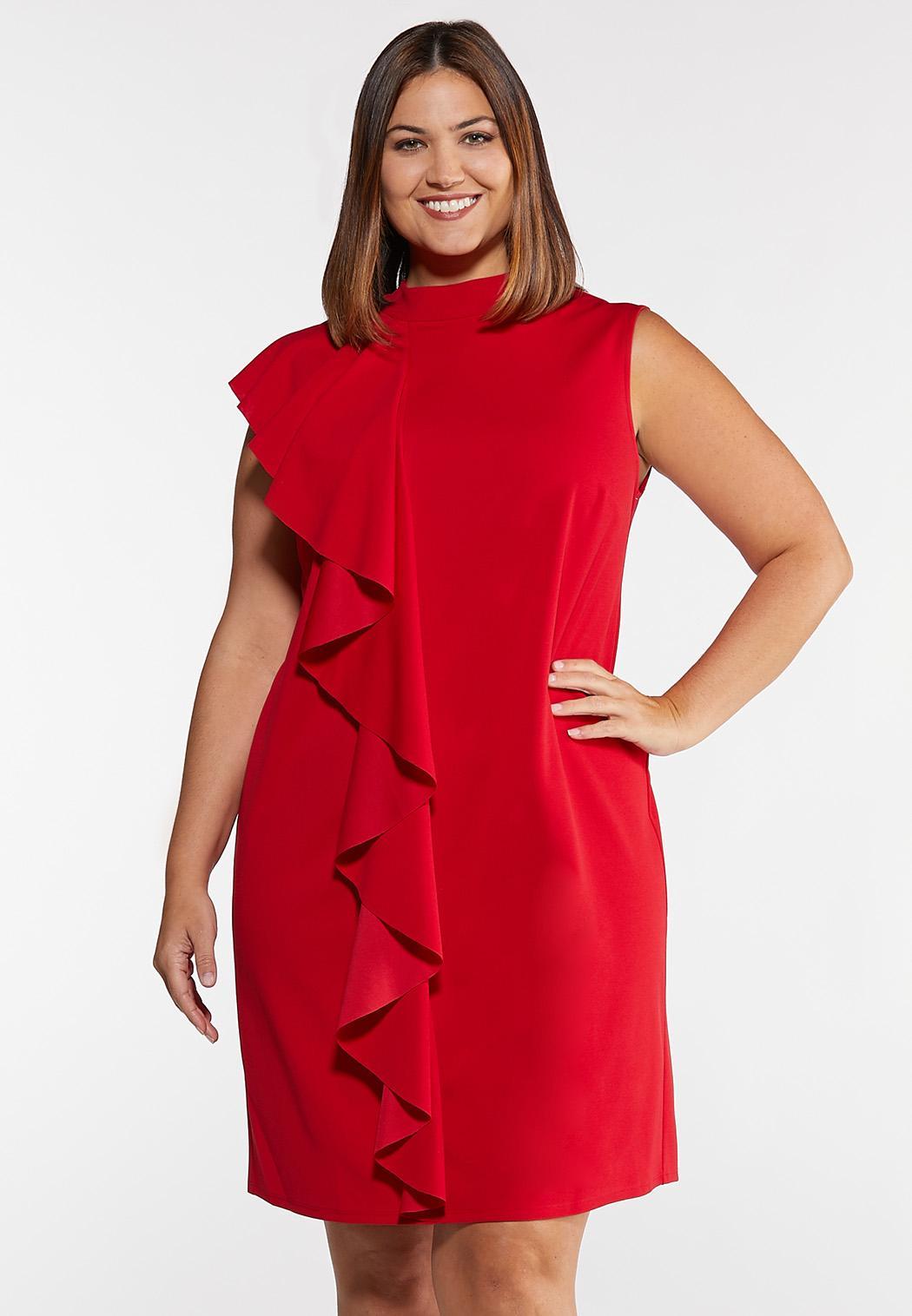 Plus Size Ruffle Sheath Dress Plus Sizes Cato Fashions