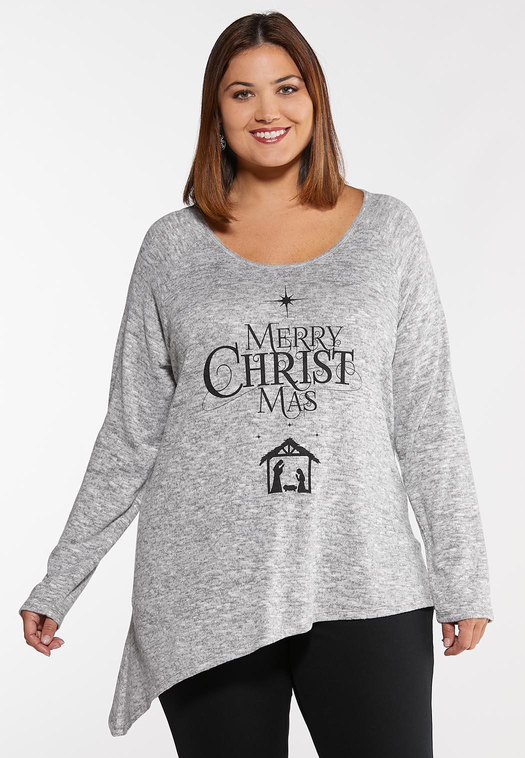 Christmas Top.Plus Size Merry Christmas Graphic Top Graphic Tees Cato Fashions
