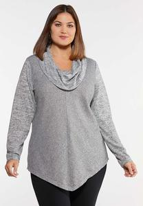 Plus Size Relaxed Cowl Neck Top