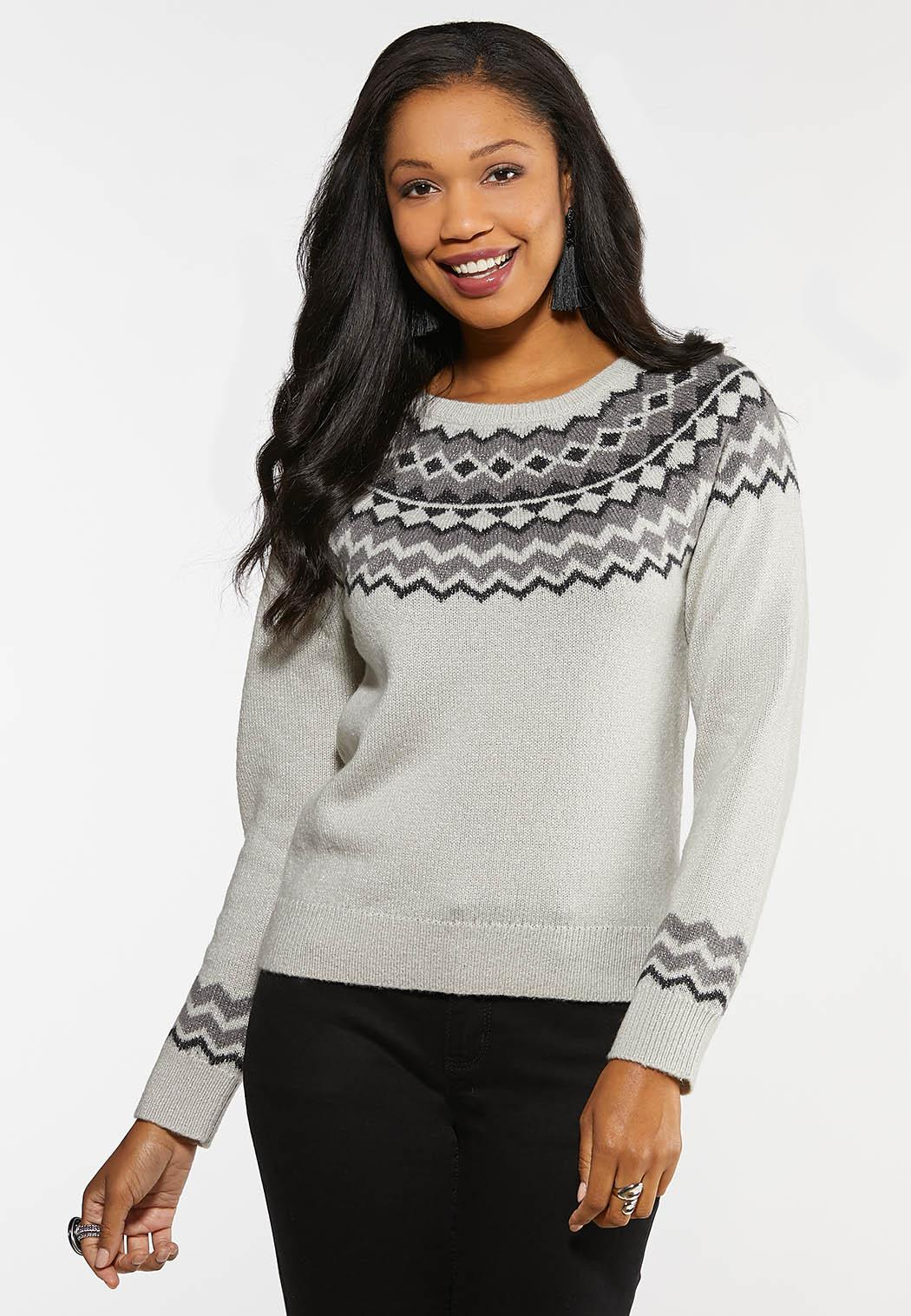 rational construction buy good top-rated fashion Plus Size Fair Isle Sweater Pullovers Cato Fashions