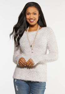 Plus Size Tinsel Blush Sweater